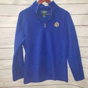 Blue Ralph Lauren quarter zip fluffy sweater